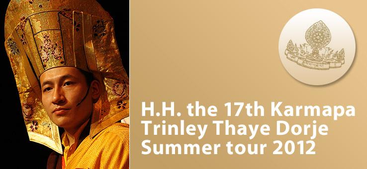 Tour di insegnamenti del XVII Karmapa in Europa