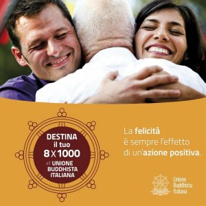 Dona l'8x1000 all'Unione Buddhista Italiana